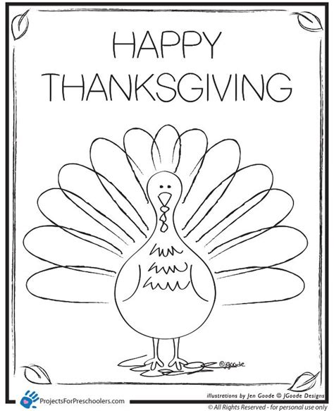 turkey coloring pages printable for preschool coloring home