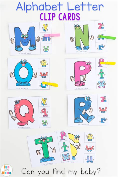 Where Can I Find Matching Uppercase And Lowercase Letter Matching Clip Cards