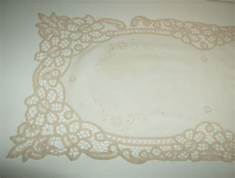 battenburg lace dresser scarf from marysmenagerie on ruby