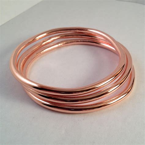 Handcrafted Bangles - handmade copper bangle copper bracelet bridesmaids