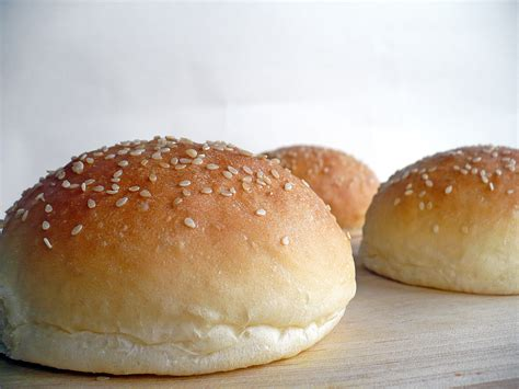 in a bun sesame seed buns food want