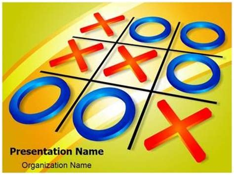 crisscross tic tac toe powerpoint template is one of the