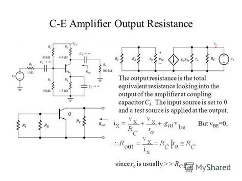 transistor lifier small signal analysis презентация на тему quot unit 6 lifiers small signal low frequency transistor lifier