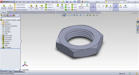 autocad nut tutorial tutorial creating hex nut in solidworks grabcad tutorials