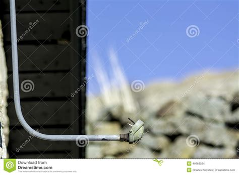 electricity fitting in new house conduit pipe with wire in it stock photo image 49769024