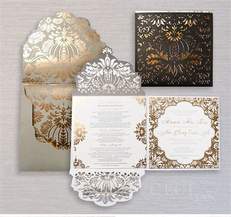 Luxury Wedding Invitations by Ceci New York   Our Muse
