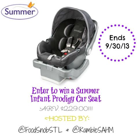 summer prodigy car seat summer prodigy 174 infant car seat review giveaway