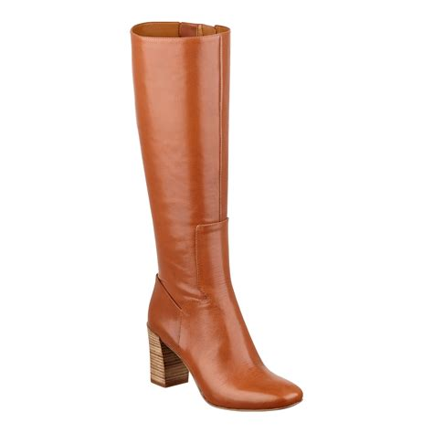 nine west boots nine west chio boot in brown leather lyst