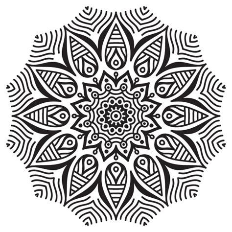 imagenes blanco y negro vectores bonito mandala blanco y negro descargar vectores gratis