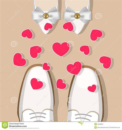 Hochzeitsschuhe Mann by Hochzeitsschuhe Und Herzen Vektor Abbildung Bild 42596251