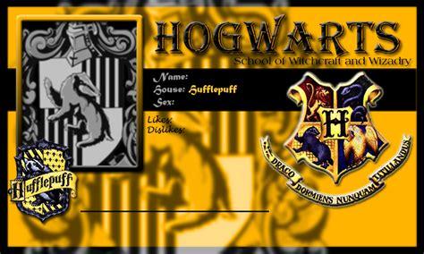 Hogwarts Id Card Template by Hogwarts School Card Hufflepuff Template By Demonfoxnaruto