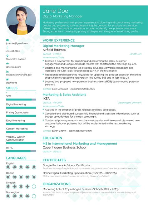 Resume Writing Format by Magnificent Resume Format Pattern Universal For