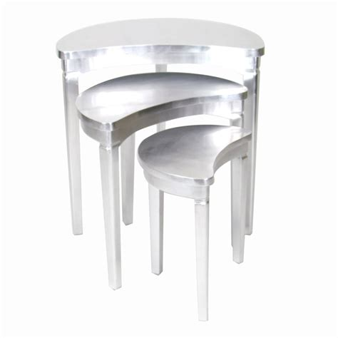 Silver Accent Table Shop Wayborn Furniture Silver Leaf Accent Table Set At Lowes