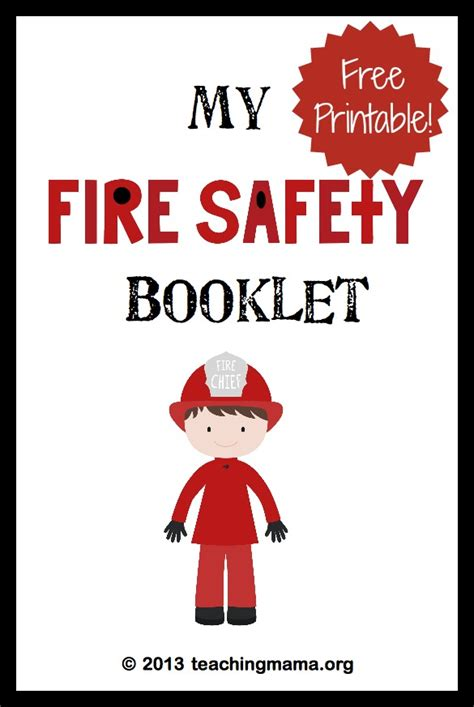 preschool fire safety booklet printables fire safety week fire safety fire safety week and