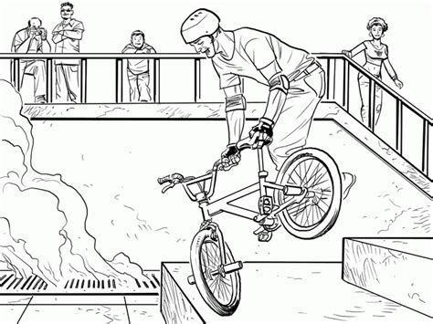 bmx coloring pages coloring home