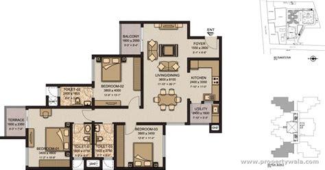 Sony Centre Floor Plan by Sobha Garnet Kondhwa Pune Apartment Flat Project