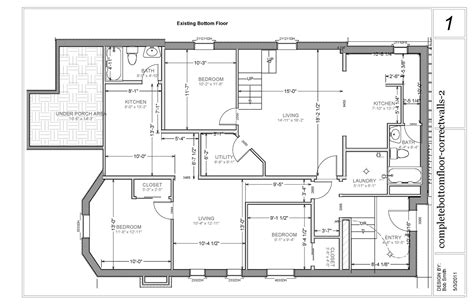 Basement Apartment Floor Plans Chez Neumansky 3rd Times The Charm Bottom Floor Apartment Ideas Home Interior Design