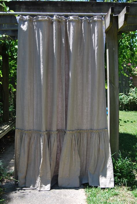 Grain Sack Curtains Quot Phoebe Quot Style Washable Linen Shower Curtain 74x90 Ld Linens Decor Grain Sacks And Burlap