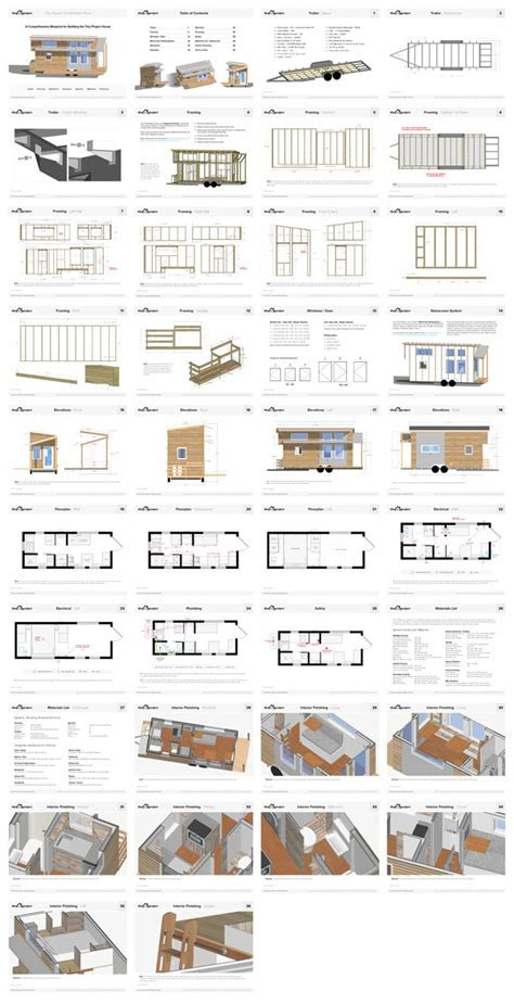 Small House Floor Plans Pdf Our Tiny House Floor Plans Construction Pdf Only The