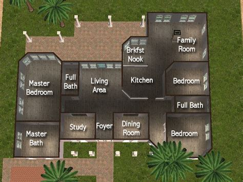 Floor Plans For 4 Bedroom Houses Mod The Sims House Of Light And Stone 3bdrm 3bath No Cc