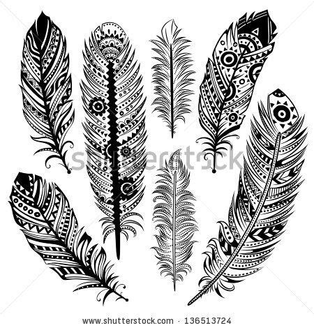 tribal pattern feather tribal feather design www pixshark com images