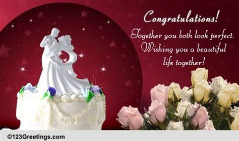 Wedding Wishes For A Couple! Free Congratulations eCards