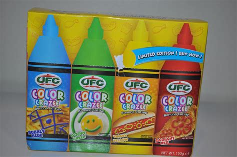 different colored ketchup make mealtime more and colorful with ufc color crazee