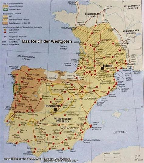 map of iberian peninsula galicia map gallaecia visigoths iberian peninsula