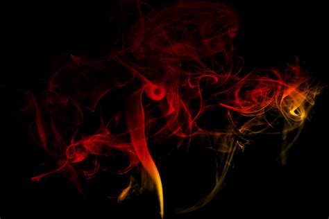 cara edit foto asap warna warni gambar abstrak bunga merokok merah api kegelapan
