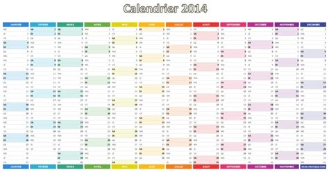 Calendrier 2016 Vierge Excel Calendrier 2014 Simple