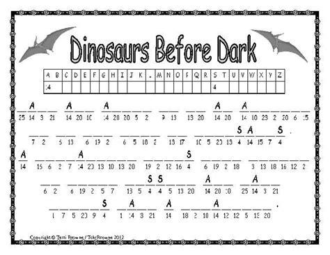 magic tree house printable quizzes 1 magic tree house dinosaurs before dark novel study
