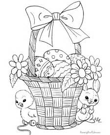 easter basket coloring pages coloring pages for easter 009