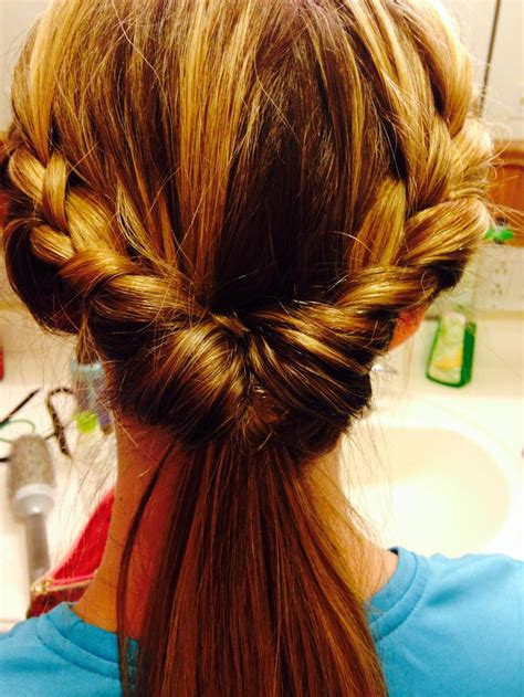 hairstyles for long hair nurses step 1 braid sides step 2 pull into ponytail step 3