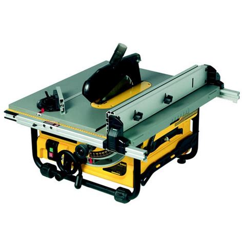 portable table saw bench dewalt dw745 250mm portable table saw