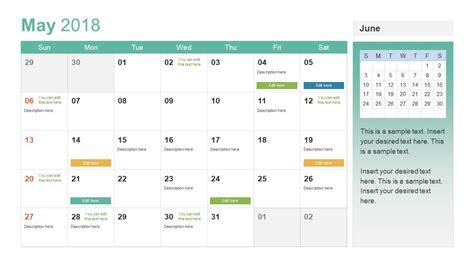 powerpoint calendar template powerpoint calendar template year 2018 slidemodel