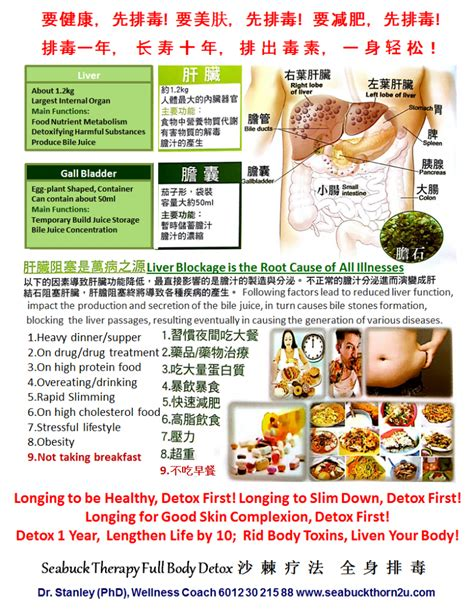 Do All Hospitals Offer Detox by Seabuck Therapy Detox Cleanse Hepatobiliary 全身排毒