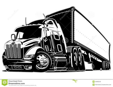 semitruck cartoons illustrations vector stock images  pictures
