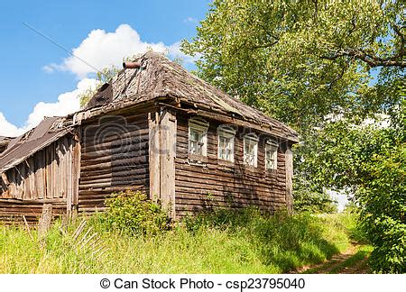 old wooden house in russian village stock photo colourbox stock photo of old wooden abandoned house in russian