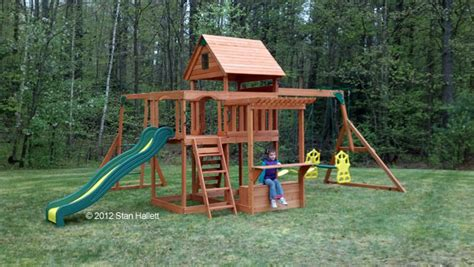 backyard playset reviews backyard discovery providence all cedar swing play set