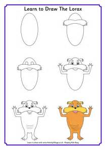 learn to draw the lorax