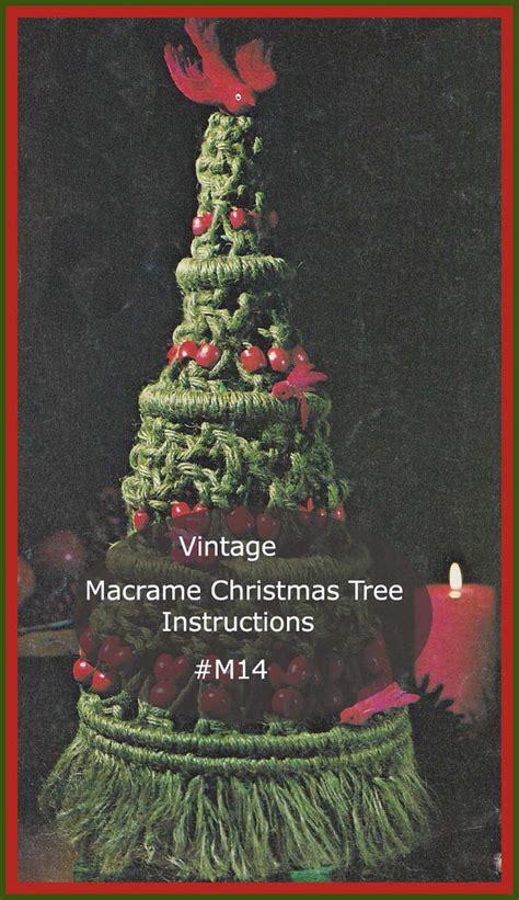 christmas tree craft instructions macrame knotting pattern