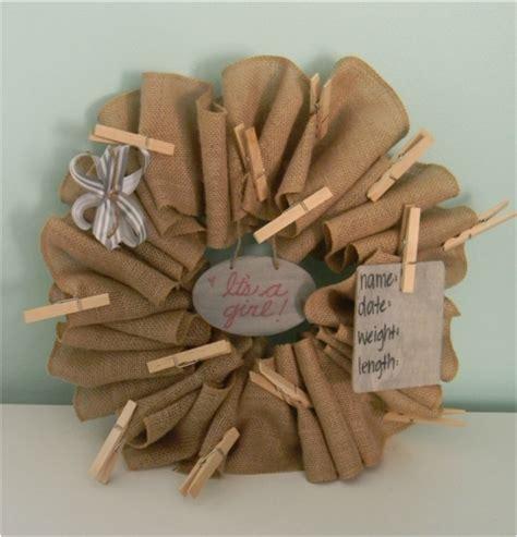 Aloft Gift Card - burlap baby wreath gift card holder baby announcement lovera loft