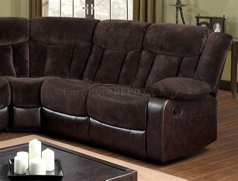 fabric reclining sectional hshire reclining sectional sofa cm6809 in brown fabric