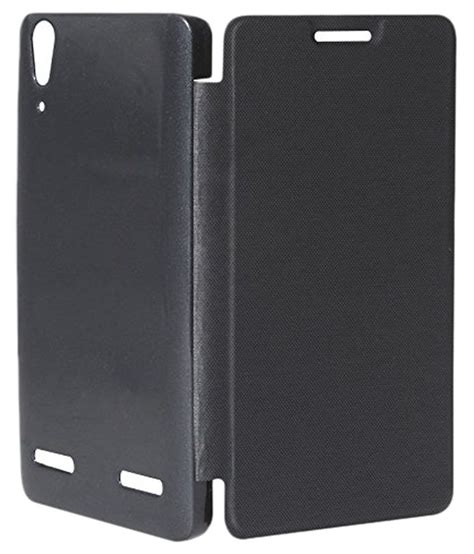 Flip Cover Lenovo A6000a7000 mhub flip cover for lenovo a6000 plus black available at snapdeal for rs 149
