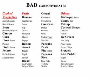 Good amp bad carbohydrates