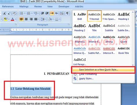 tutorial membuat daftar isi di word 2007 tutorial membuat daftar isi otomatis di word 100 berhasil