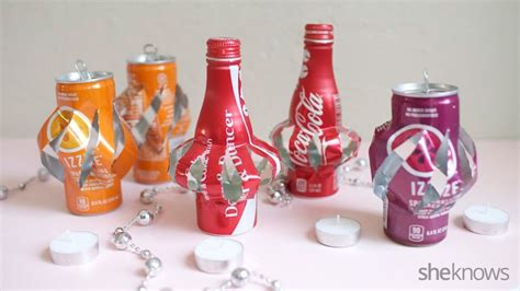 Home Decor For Christmas Holidays Diy Recycled Can Luminaries A Quick Craft To Light Up