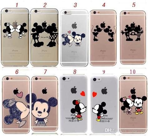 Tpu Hiding Mickey Minnie Iphone 5 5s 6 6s 6 Plus 6s Plus 7 7 Plus minnie mickey mouse tpu back