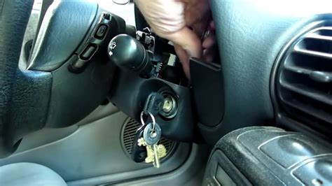 how can i replace the ignition switch in a jeep wrangler s 1993 i know is the steering column ignition lock cylinder replacement redo youtube