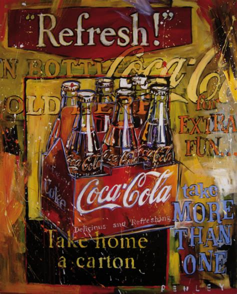 Coke Is The Real Thing For Andy by Coca Cola On Steve Penley Vintage Coke